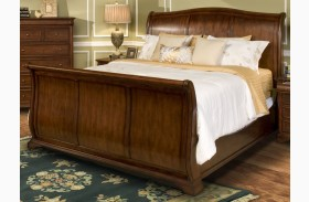 Whitley Court Tobacco Sleigh Bed