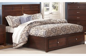 Kensington Burnished Cherry Platform Storage Bed