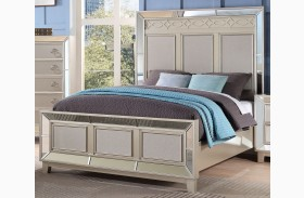 Stefano Silver Panel Bed