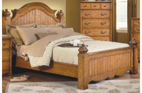 Hailey Toffee Poster Bed