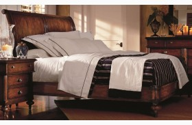 British Colonial Sleigh Bed