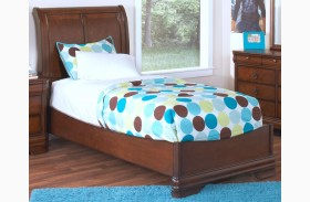Sheridan Burnished Cherry Youth Sleigh Bed