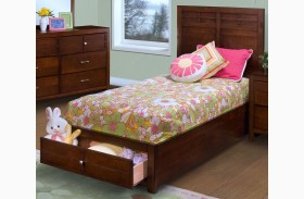 Kensington Burnished Cherry Youth Platform Storage Bed