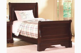 Versaille Bordeaux Youth Sleigh Bed