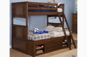 Logan Spice Bunk Bed with Storage
