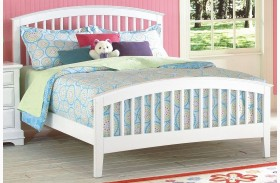 Bayfront White Youth Slat Bed