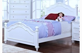 Megan Youth White Youth Poster Bed
