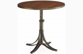 Mercantile Whiskey Adjustable Accent Table