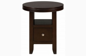 Marlon Wenge Round End Table