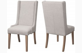 Solomon Natural Mango Finish Side Chair Set of 2