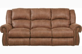 Westin Nutmeg Finish Reclining Sofa