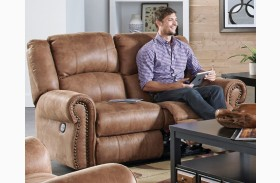 Westin Nutmeg Finish Rocking Reclining Loveseat