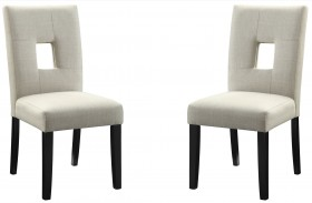Andenne Cream Finish Dining Chair Set of 2