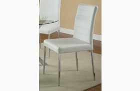 Vance White Upholstered Chair Set of 4