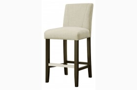 Ivory Finish Dining Stool Set of 2