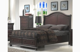 Hyde Park Seal Brown Sleigh Bed