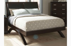 Astrid Espresso Sleigh Bed