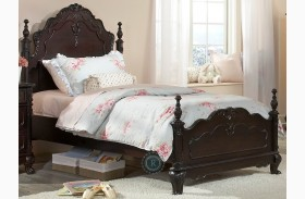 Cinderella Dark Cherry Youth Poster Bed