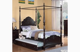 Cinderella Dark Cherry Youth Canopy Poster Bed