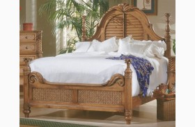 Palm Court Island Pine Poster Bed