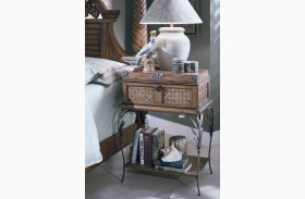 Palm Court Island Pine Metal Nightstand