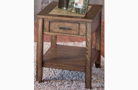 Mesa Valley Tobacco Finish Chair Side Table