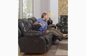 Watson Coal Reclining Loveseat with Console
