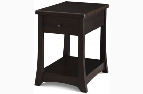 Novara Charcoal Fnish Boca Chairside Table