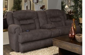 Atlas Sable Reclining Loveseat with Console