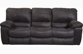 Terrance Black Finish Reclining Sofa