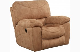 Terrance Caramel Finish Rocker Recliner