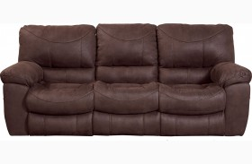 Terrance Chocolate Finish Reclining Sofa