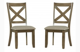 Omaha Weathered Burnished Grey Side Chair Set of 2