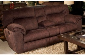 Nichols Chestnut Finish Console Loveseat