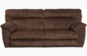 Nichols Chestnut Finish Reclining Sofa