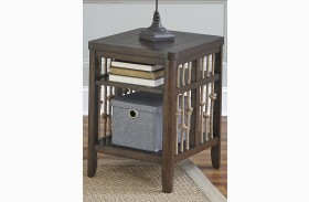 Dockside Tobacco Finish Chair Side Table