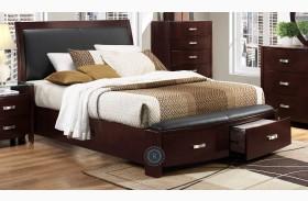Lyric Espresso Sleigh Storage Bed