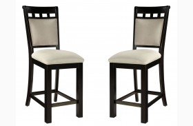 Gateway Brown and White Seat Barstool Set of 2