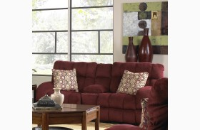 Siesta Wine Reclining Loveseat with Console