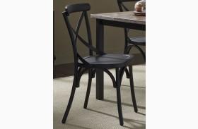 Vintage Black X Back Side Chair