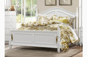 Clementine White Poster Bed