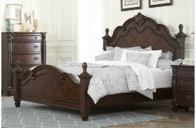 Hadley Row Dark Cherry Poster Bed