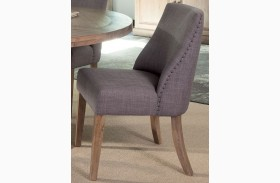 Natural Gray Finish Side Chair Set of 2