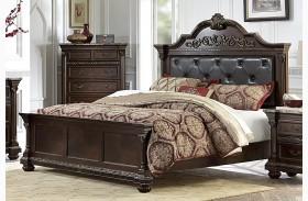 Russian Hill Warm Cherry Vinyl Panel Bed