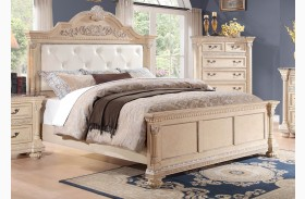 Russian Hill Antique White Vinyl Panel Bed