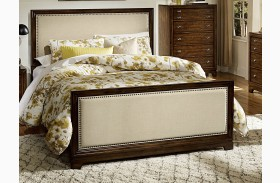 Bernal Heights Warm Cherry Panel Bed