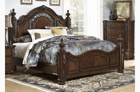 Augustine Court Brown Cherry Poster Bed