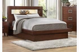 Arata Brown Platform Bed