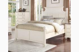 Floresville Antique White Platform Bed