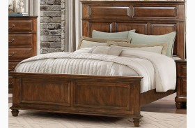 Bardwell Brown Cherry Panel Bed